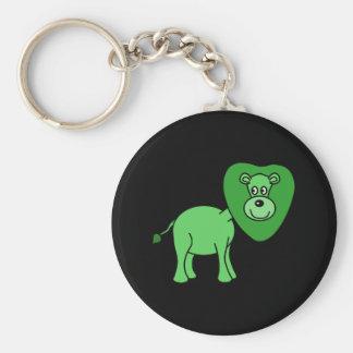 Green Lion Cartoon Keychain