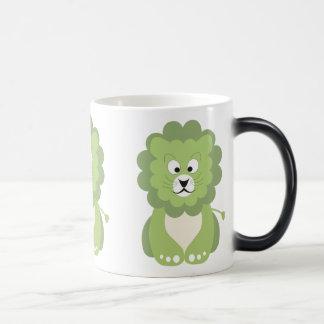 Green lion magic mug