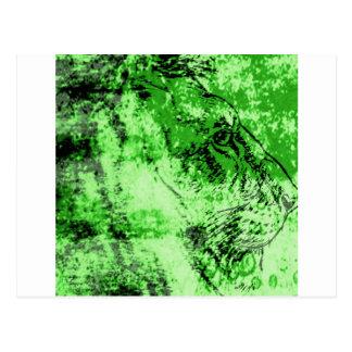 Green lion postcard