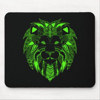 Green Lion With Background Color of Your Choice Mouse Pad