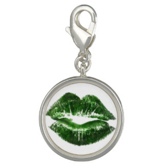 Green Lips Photo Charms