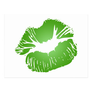 Green Lips Postcard