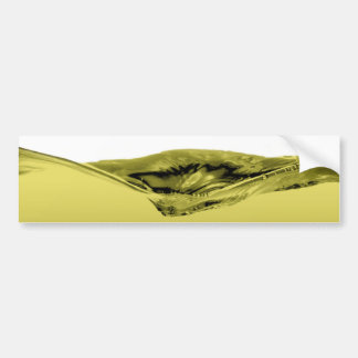 Green liquid wave bumper sticker