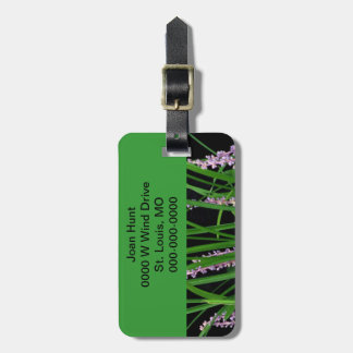 Green Lirope Grass Luggage Tag Travel Bag Tag