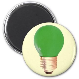 GREEN LITE BULB REFRIGERATOR MAGNET