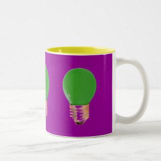 GREEN LITE BULB Two-Tone COFFEE MUG