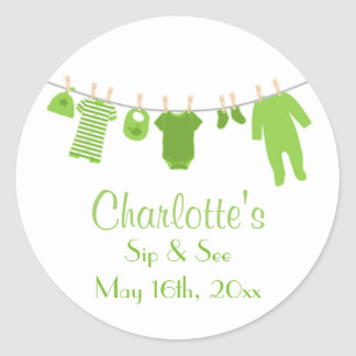 Green Little Clothes Baby Sip and See Stickers