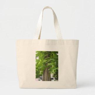 Green living jumbo tote bag