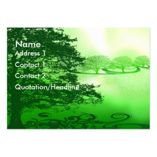 Green Living Large Business Cards (Pack Of 100)