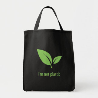 Green Living | Green Black Graphic Design Tote Bag