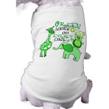 Green Living Message Dog Shirt