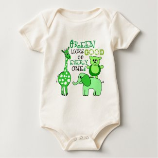 Green looks good on everyone onesie