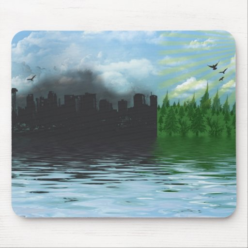 Green Living Mouse Pad