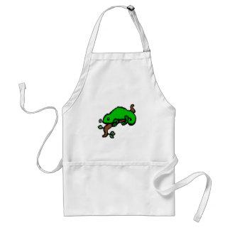 Green Lizard Adult Apron