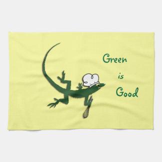 Green Lizard Chef Kitchen Towel