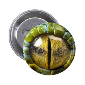 Green Lizard Eye Button