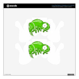 green lizard iguana cartoon decal for PS3 controller