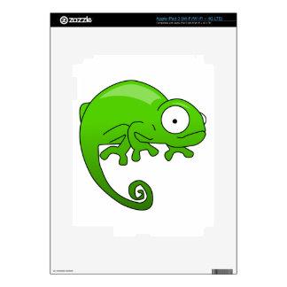 green lizard iguana cartoon decals for iPad 3