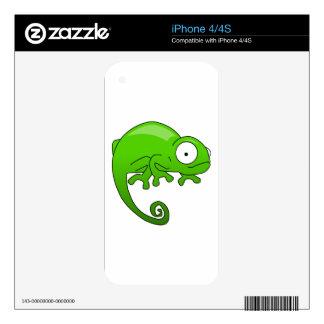 green lizard iguana cartoon decals for the iPhone 4