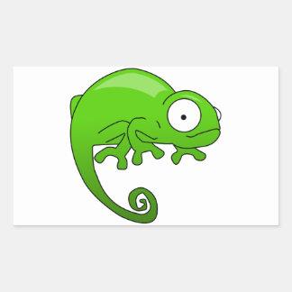 green lizard iguana cartoon rectangular sticker