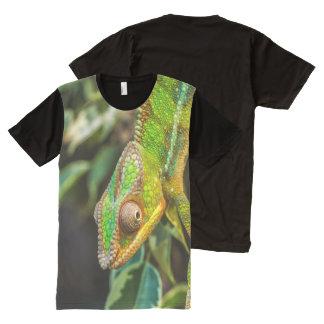 Green Lizard Iguana Photography Print All-Over-Print T-Shirt