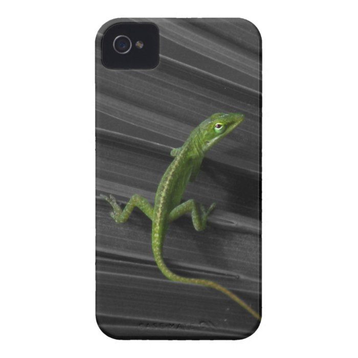Green Lizard iPhone 4 Barely There Case