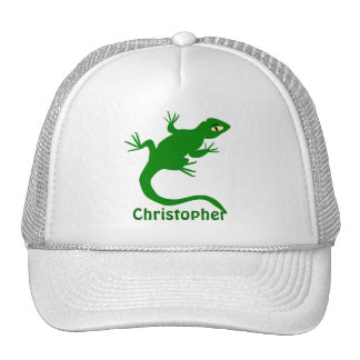 Green Lizard Just Add Name Trucker Hat