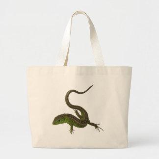 green lizard large tote bag