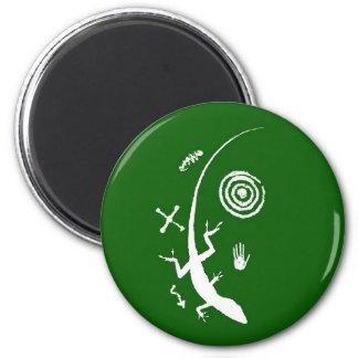 Green Lizard Petroglyph Magnet