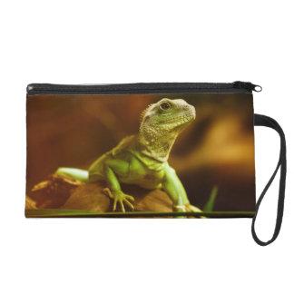 Green Lizard Photo Bagettes Bag