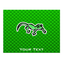 Green Lizard Postcard