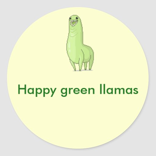Green llama Sticker