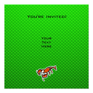 Green Lobster Personalized Announcements