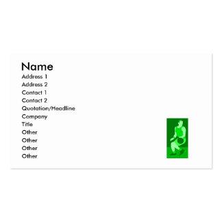 green logo business card