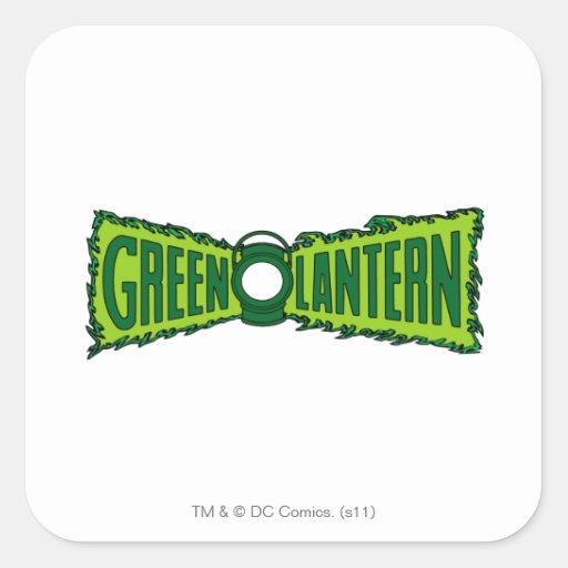 Green Logo Flames Square Sticker