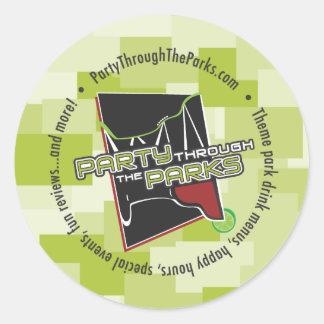 Green Logo Sticker - Party Through The Parks