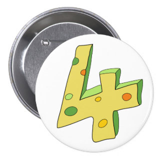 Green Lolly 4 Birthday Button