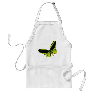 Green longwing butterfly design aprons