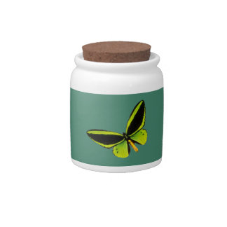 Green longwing butterfly design candy jars