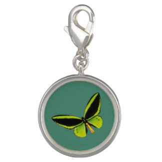 Green longwing butterfly design charms