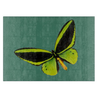 Green longwing butterfly design cutting boards