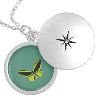 Green longwing butterfly design lockets