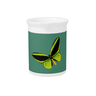 Green longwing butterfly design pitchers
