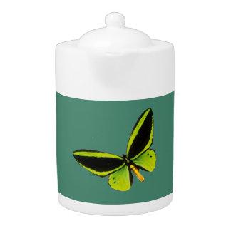 Green longwing butterfly design teapots