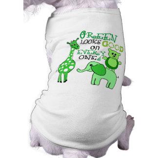 Green Looks Good on Everyone Dog Shirt
