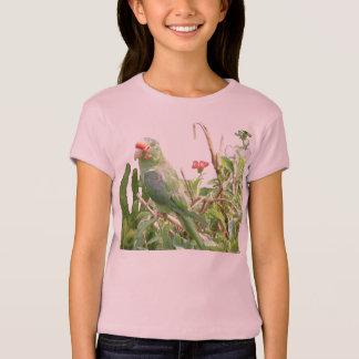 Green Lorikeet Cap Sleeve Bird T-Shirt