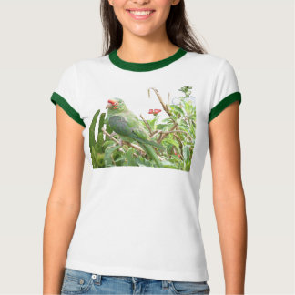 Green Lorikeet Ringer Bird T-Shirt