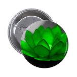 Green Lotus 2 Inch Round Button