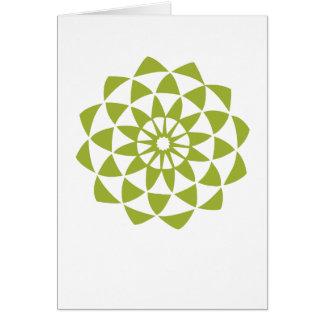Green Lotus Flower Greeting Card