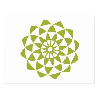 Green Lotus Flower Postcard